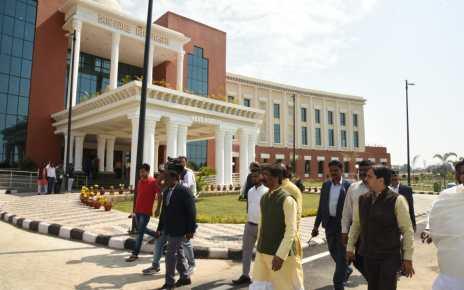 Cm Jharkhand hemant Soren inspected new vidhansabha Bhawan