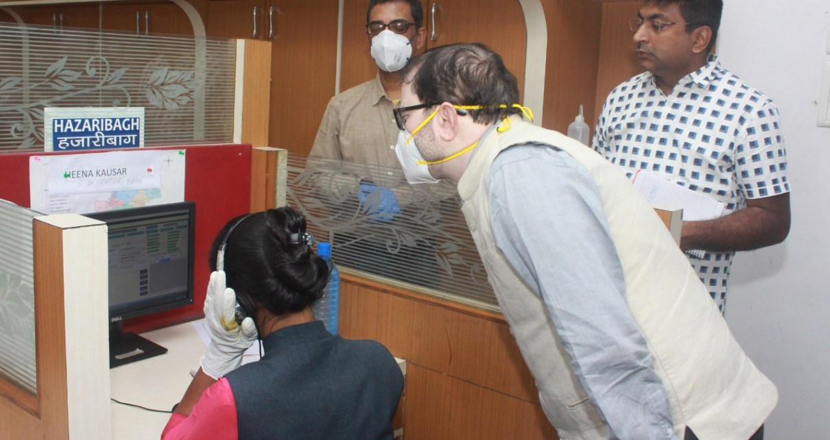 Chief secretary dr d k tiwary inspected state level corona control room