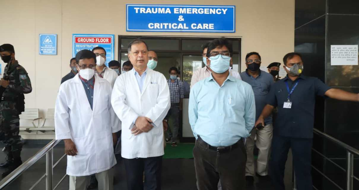 Cm hemant Soren inspected the isolation ward made in riims for the victims of corona virus