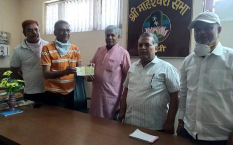 Donation by sri shyam sewa trust for food for needy