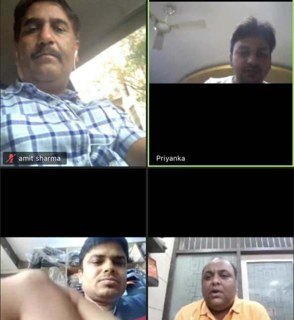 Officials of mareari yuwa manch ranchi branch took the oath via online mode
