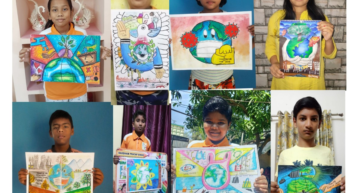 Painting competition on earth day