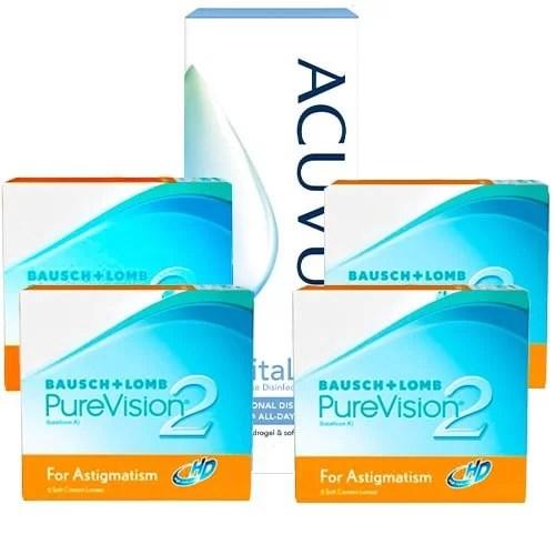 PureVision 2 HD for Astigmatism Kampanya 4 Kutu, kampanyalı lens fiyatı