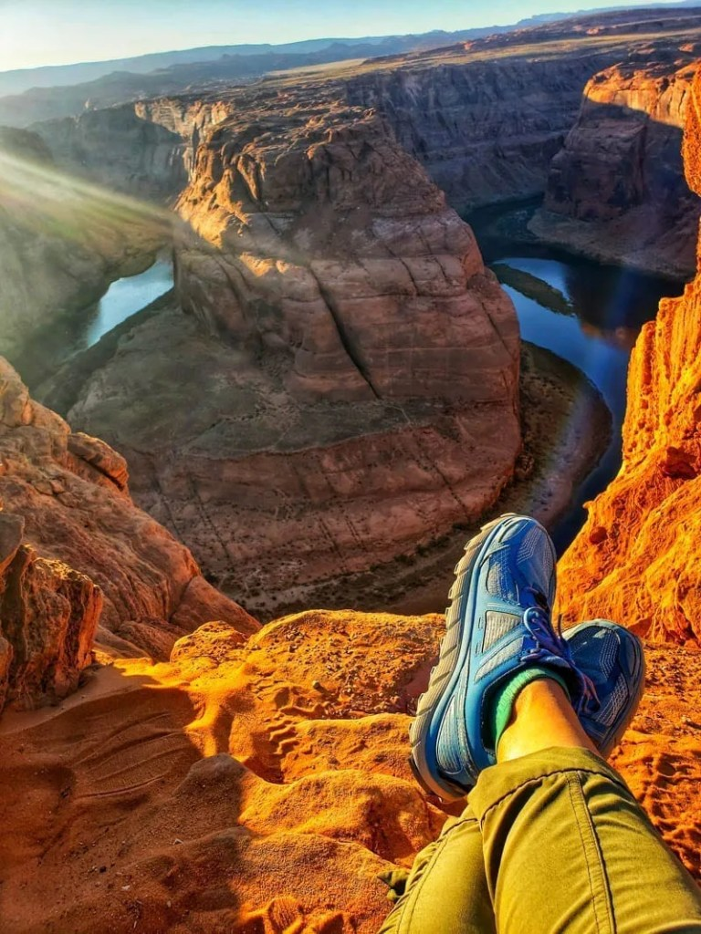 Horseshoe Bend is a perfect stop on a road trip along the Utah and Arizona border