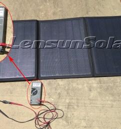 lensun portable 100w dc volts testing via multimeter  [ 1900 x 1424 Pixel ]