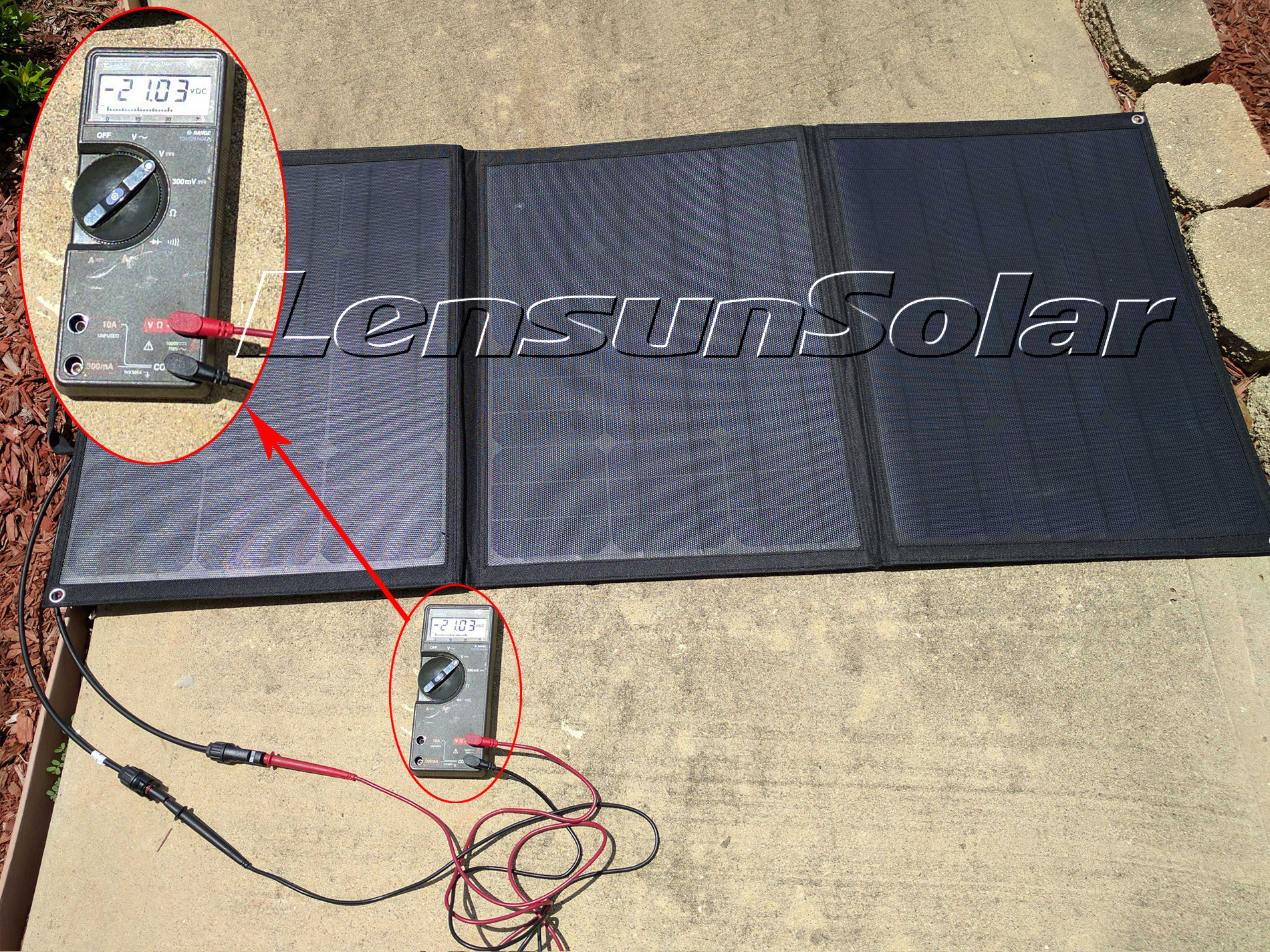 hight resolution of lensun portable 100w dc volts testing via multimeter