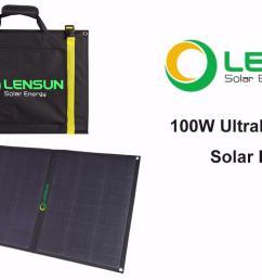 lensun 100w ultralight folding solar panel portable foldable high quality etfe solar panel installation  [ 1286 x 734 Pixel ]