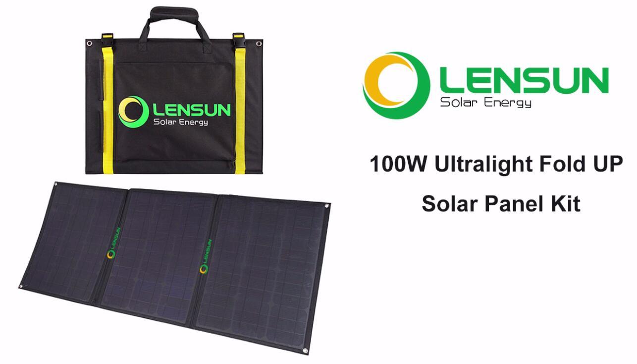 hight resolution of lensun 100w ultralight folding solar panel portable foldable high quality etfe solar panel installation