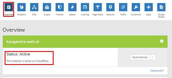 domain di cloudflare aktif