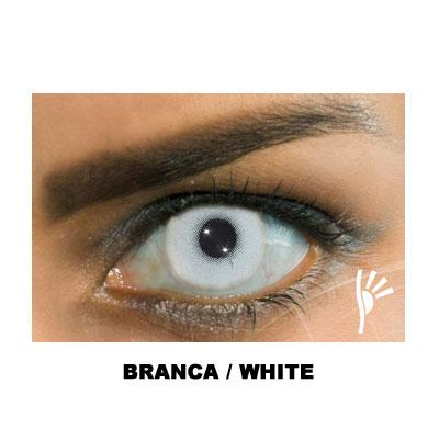 Lente de contato colorida branca