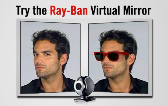 4314b28069cbe Simulador Ray-Ban  descubra virtualmente como um óculos cairá em ...