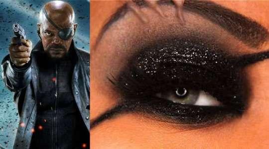 Maquiagem Nick Fury
