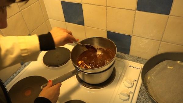 Fondant au chocolat et aux cerises - cuisson