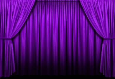Purple Stage Curtain