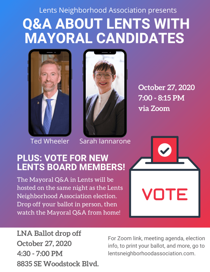 Lents Q&A with mayoral candidates.