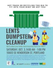 Lents Dumpster Cleanup