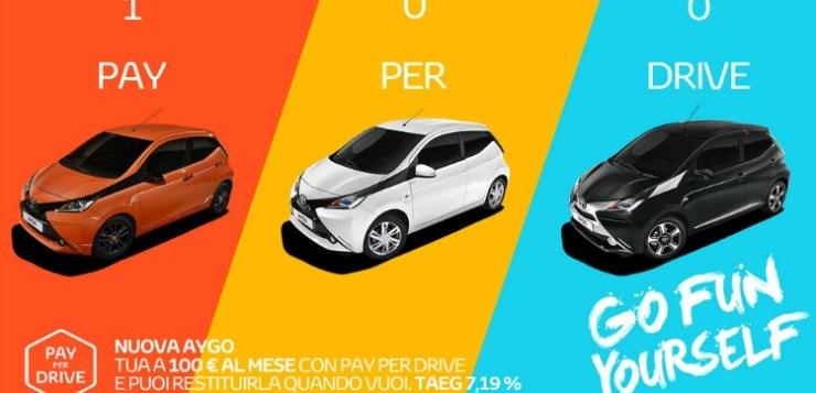 Acquista la tua Toyota con il finanziamento pay per drive