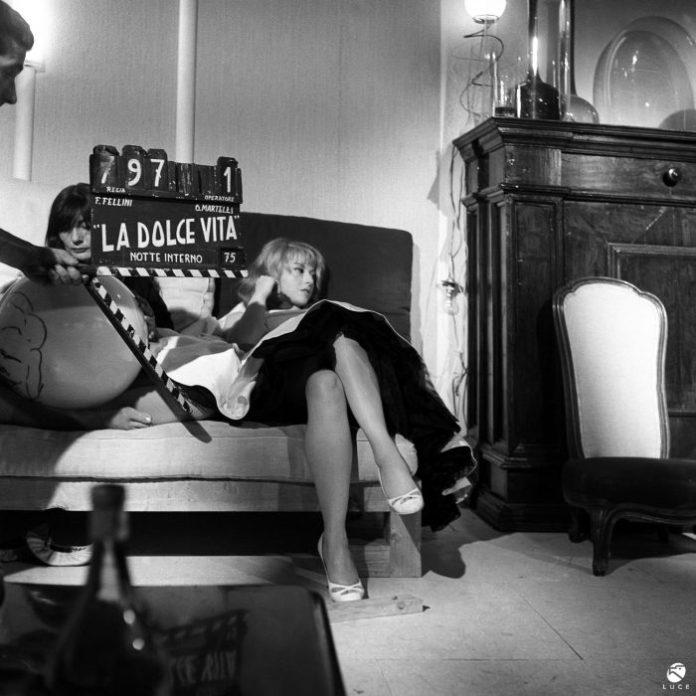 Dal set de La dolce vita _Foto courtesy Istituto Luce