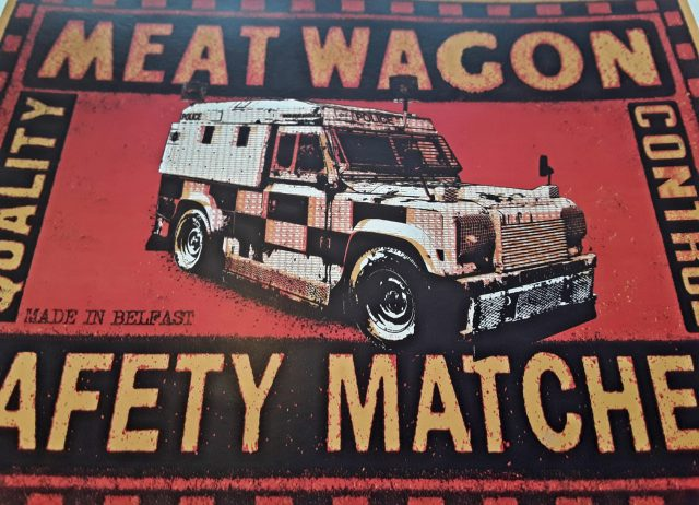 Close up of Meat Wagon Matches