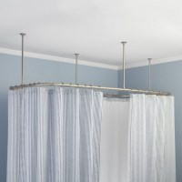 Ceiling Mount Shower Curtain Rod Clawfoot Tub - Bathtub ...