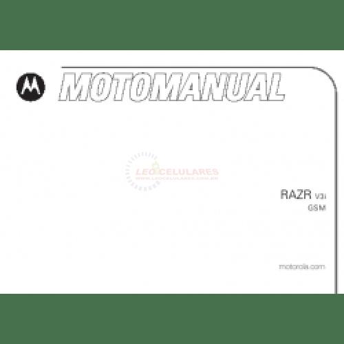 MANUAL DO USUARIO MOTOROLA RAZR V3I USADO