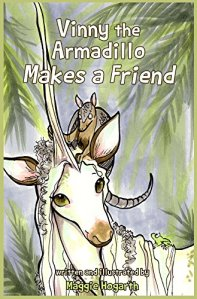 "Cover for ""Vinny the Armadillo Makes a Friend"" by Maggie Hogarth"