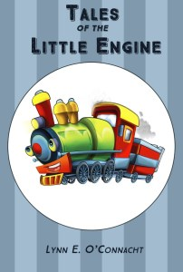 """Cover for """"Tales of the Little Engine"""". A cartoon steam train looking happy."""
