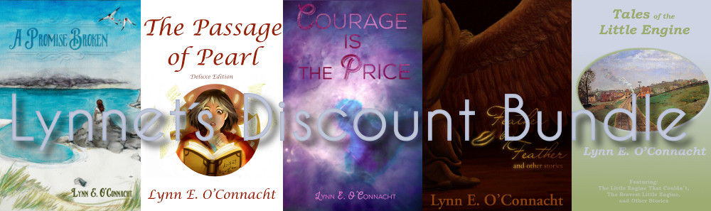 Lynnet's Discount Book Bundle: Includes A Promise Broken, The Passage of Pearl, Courage Is the Price, Feather by Feather and Other Stories, and Tales of the Little Engine.