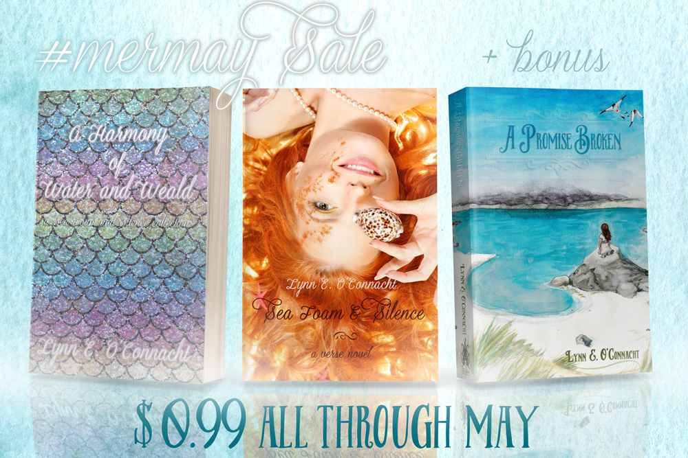 #mermay Sale: Sea Foam and Silence & A Harmony of Water and Weald on sale for $0.99 each! Bonus sale of A Promise Broken!
