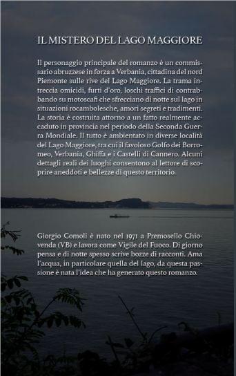 Il mistero del Lago Maggiore - Giorgio Comoli quarta di copertina