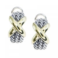 Vintage David Yurman Cable Classics X Crossover Earrings