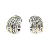 Vintage David Yurman Cable Hoop Earrings