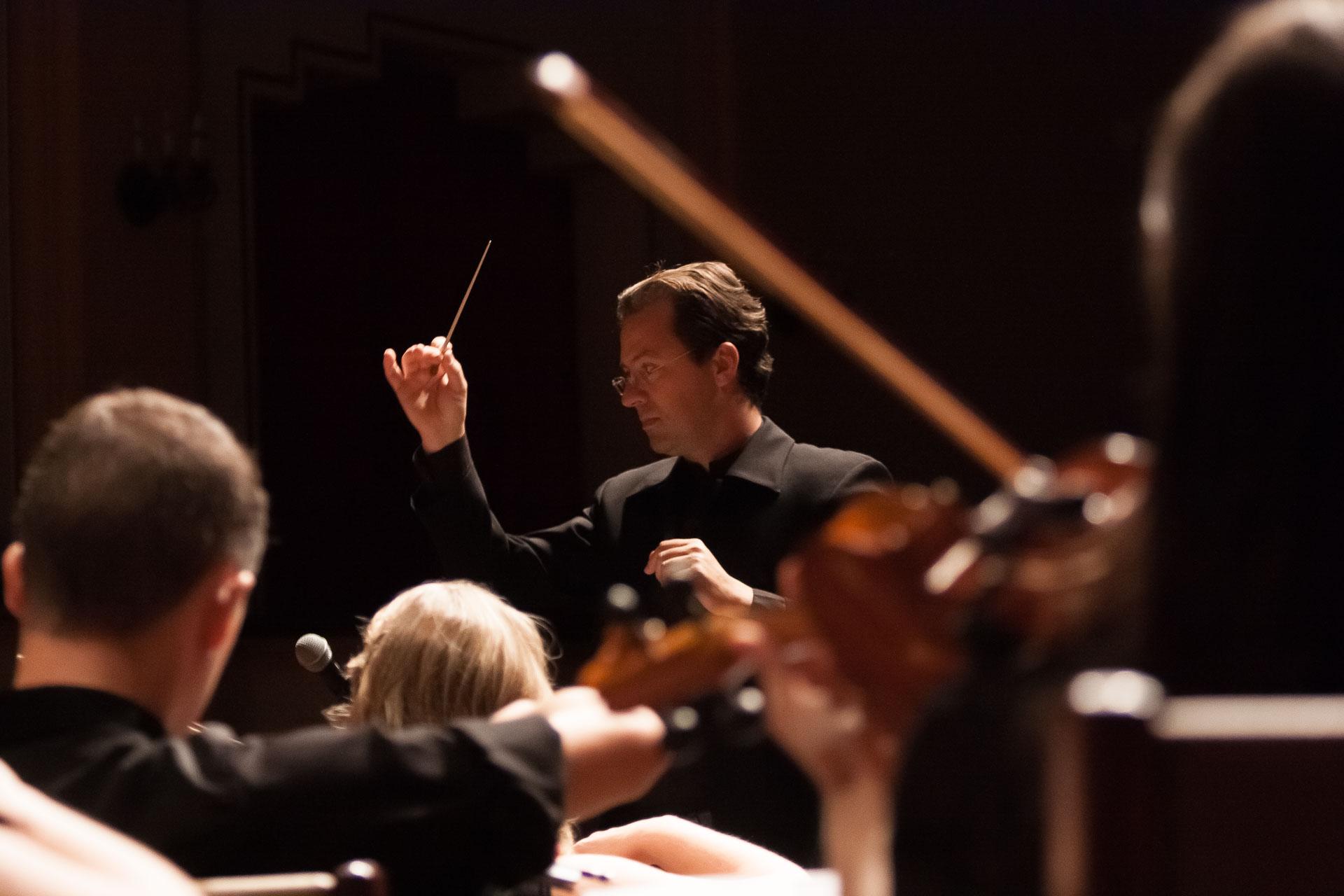Ensaio da Orquestra da FURB no Teatro Carlos Gomes, em Blumenau