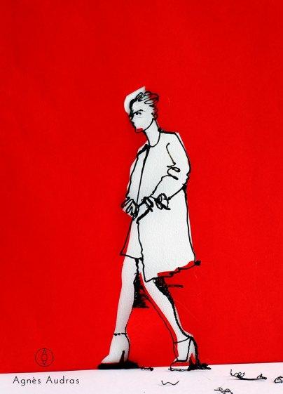 Walking In The Red Agnès Audras 3D Brush Léonard