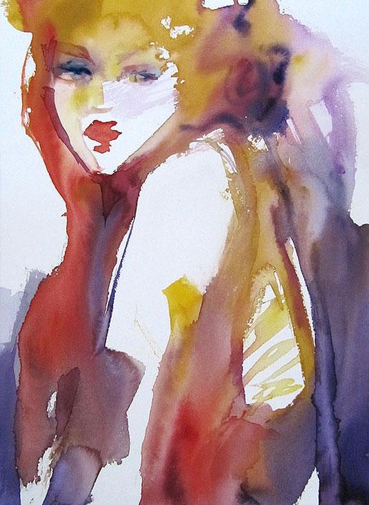 Aquarelle artiste Sylvia Baldeva