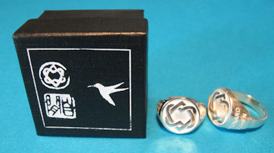 Sterling Silver Ring Unified Heart Cufflinks