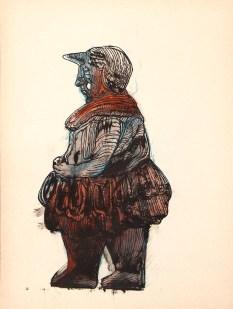 Crayon et encres sur papier 25 × 34 cm