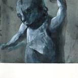 Crayon, encres et gouache sur papier 25 × 25 cm