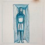 Crayon et encre sur papier 25 × 25 cm