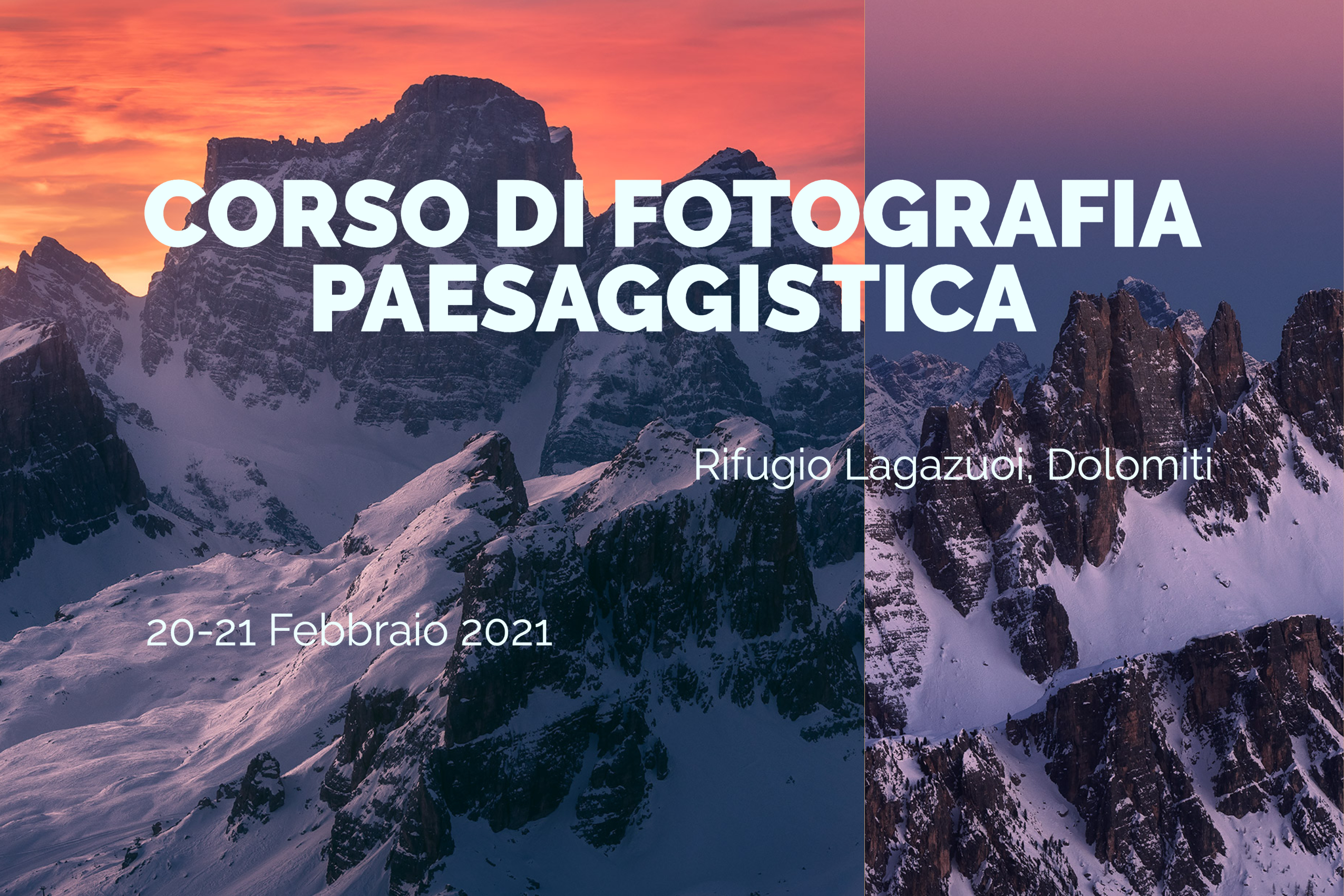 workshop fotografico nelle dolomiti in inverno