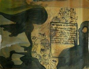 Leonardo Spina, Nicola, 2009 Acrilyc on paper, 70 x 100 cm