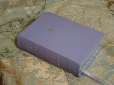 Lilac Pebble Grain Cowhide Bible