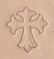 3-D Cross stamp -- the outline can be gold-stamped