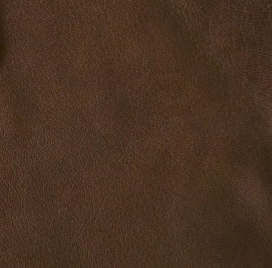 Glossy chocolate -- thick chocolate soft-tanned goatskin with a nice sheen