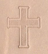 Plain large cross stamp. (Can be gold-stamped.)