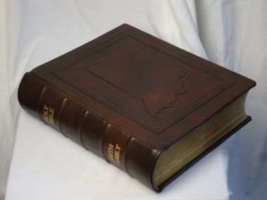 Family Bible with Hand-Tooled Indiana Outline