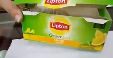 worms green tea