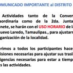 Comunicado para la Junta de Gabinete