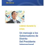 Mensaje del Presidente Internacional