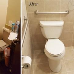Wheelchair Accessible Chair Rail Upside Down Handicap Bathroom Remodel